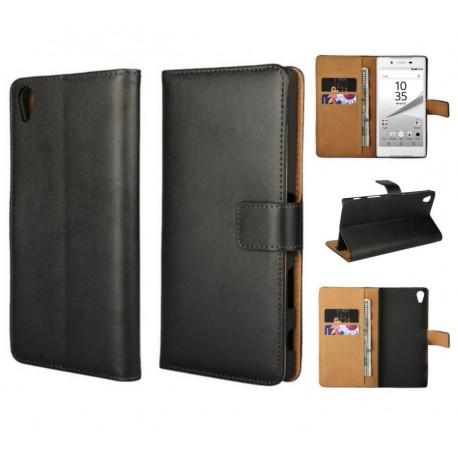 Coque Portefeuille Sony Xperia Z5 Housse Etui Cartes Billets