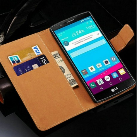 Coque Portefeuille LG G4 Housse Etui Cartes Billets