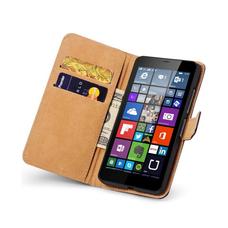 Coque portefeuille microsoft lumia 640 nokia housse etui for Housse lumia 640