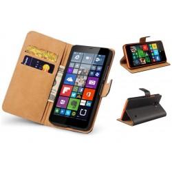 Coque Portefeuille Microsoft Lumia 640 Nokia Housse Etui Cartes Billets