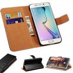 Coque Portefeuille Samsung Galaxy S6 Edge + Plus Housse Etui Cartes Billets