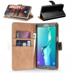 Coque Portefeuille Samsung Galaxy S6 Edge Housse Etui Cartes Billets