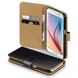 Coque Portefeuille Samsung Galaxy S6 Housse Etui Cartes Billets