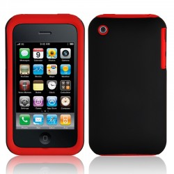 Coque Hybride IPHONE 3/3GS Silicone/Rigide Gros Bords Couleurs Housse Etui