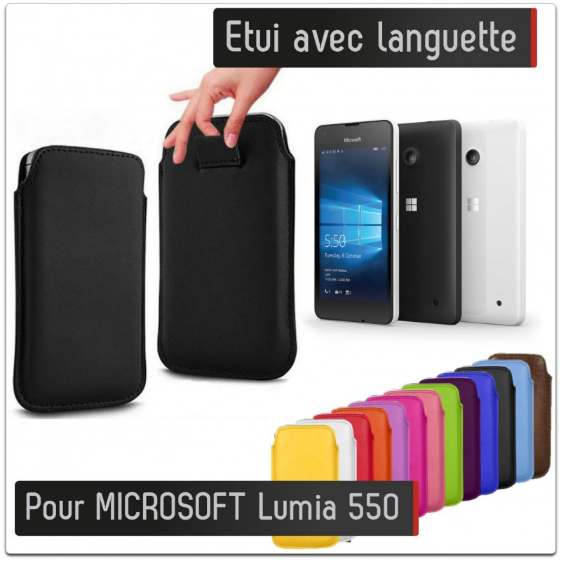 Pochette avec languette microsoft lumia 550 nokia simili for Housse lumia 550